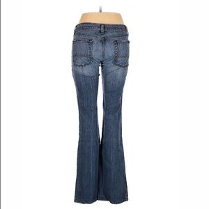 7 For All Mankind flared leg low rise waist jeans